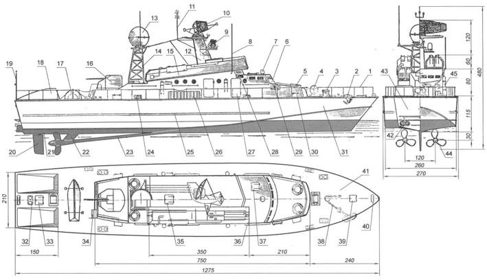 Уменьшенные копии кораблей
