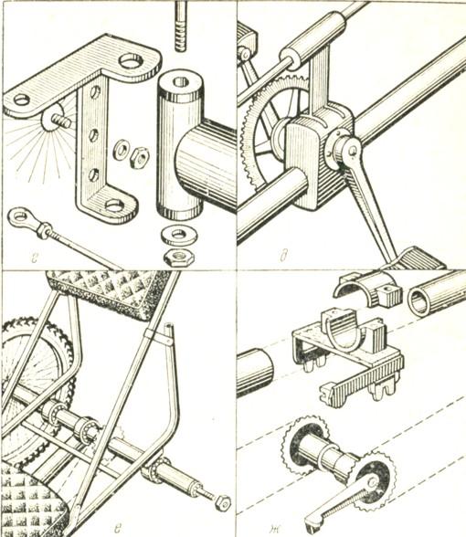 Велоквадроцикл своими руками чертежи 95