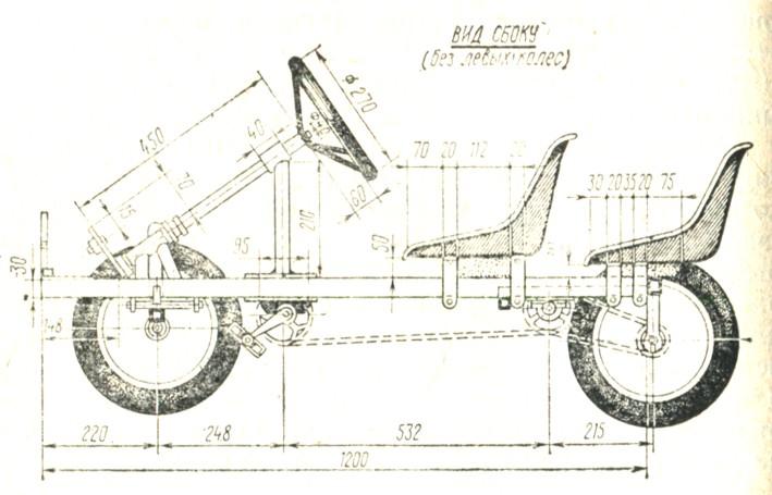 Рис. 58. Вид велокарта сбоку
