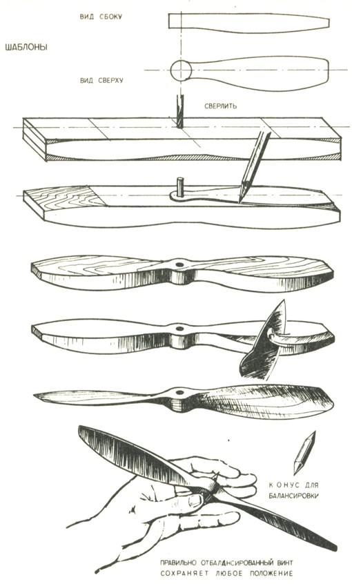 Изготовление воздушного винта своими руками