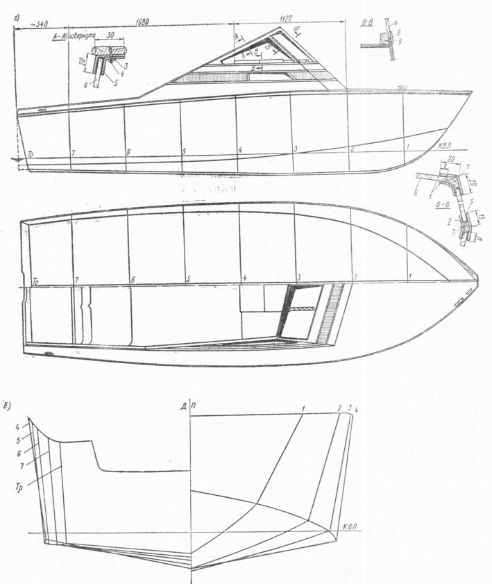 Как сделать корпус катера своими руками 74