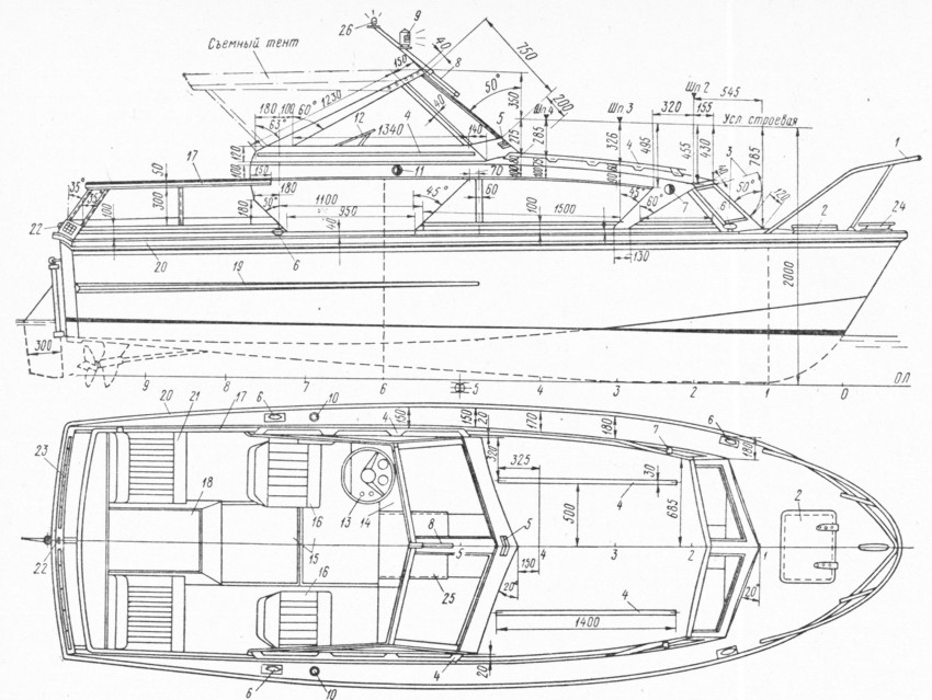 план постройки лодки